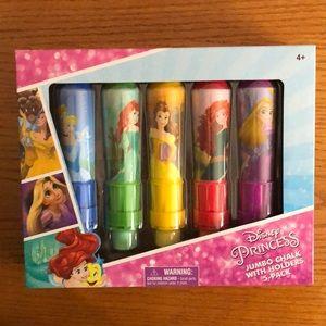 Disney Princess Jumbo Chalk with Holders 5-Pack